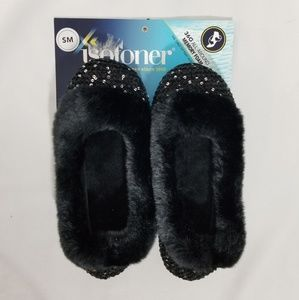 isotoner Shoes - Isotoner Henna Sequin Ballerina Slippers Small